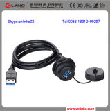 Doppelter USB Connector/USB Cable Connector/Female zu Male USB Connector