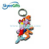Выполненный на заказ цветастый мягкий PVC отражательное Keychain