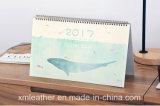 Impresión de papel 2017 del calendario de escritorio del calendario