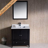 "Fed-1067 30 ""Single Sinks Branco Quartz Top Solid Wood Vanity de banheiro"