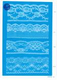 Merletto non elastico per vestiti/indumento/pattini/sacchetto/caso F0162 (larghezza: 1.4CMM a 24cm)