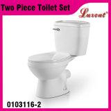Bouton en céramique Siphonic des prix bon marché premier fixé au sol avec la toilette en deux pièces de garnitures de réservoir