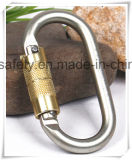 Zinc Plating의 타원형 각자 Locking Customized Logo Carabiner