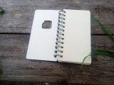 A tampa cortada do papel de embalagem Rosquear-Limita o caderno espiral