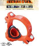 (Rot, orange, galvanisiert, blau) duktiles Roheisen-Grooved Rohrfitting des mechanischen T-Stücks