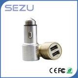 最もよい販売最も新しいデザイン携帯電話のための安全ハンマーを持つ二重USB Aerometal車の充電器