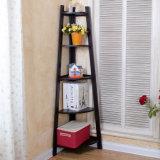 Étagère en bois lumineuse et propre de la rangée 5 de mémoire (WS16-0233, pour la mémoire à la maison)