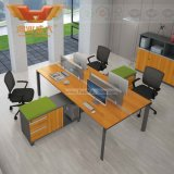 사무용 가구 책상 시스템 증명되는 SGS (H60-0105)에 의해 승인되는 Fsc 숲을%s 가진 현대 대나무 작풍 1.8m L& U 모양 행정실 책상