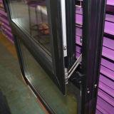 Guichet ouvert de tissu pour rideaux de couleur de qualité d'intérieur en aluminium gris de profil avec le blocage multi et la glace triple Kz304