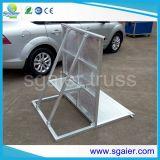 Sécurité routière en aluminium de frontière de sécurité de barrières de contrôle de foule d'étape en métal de barrières de contrôle de foule