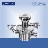 Válvula de diafragma neumática embridada Ss316 sanitaria de la parte inferior del tanque