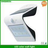 Luz esperta solar solar da lâmpada de parede do diodo emissor de luz & do sensor do diodo emissor de luz da parede