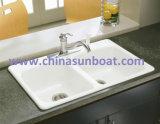 Sunboat esmaltou o dissipador do ferro de molde do esmalte do dissipador dobro de Pentrough /Flume/ da canaleta de água do ferro de molde