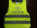 Tela de confeção de malhas do amarelo 100%Polyester da gripe da veste da segurança
