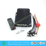 4 Channel Car CCTV DVR com SD Car Recorder, 4 Split Car Control Box para 4 câmeras Xy-9638