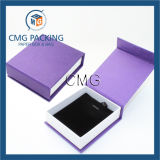 Purple Customzied Caixa de embalagem de veludo artesanal de veludo (CMG-PJB-042)