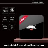 H96 PROOcta KernAndroid 6.0 Amlogic S912 intelligenter Fernsehapparat-Kasten