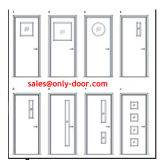 Panic BarのBS476 Listed 90 Mins Steel Fire Rated Doors