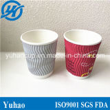 赤いコーヒーさざ波の覆いのコップ(YH-L30)