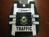 Sicurezza Vest con Police Badge 100%Polyester Mesh