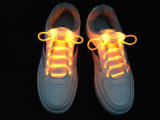 Battery를 가진 가벼운 Shoe Laces 밝아지 LED Flashing Shoelaces