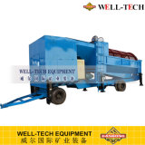 Gold Wash Plant Mobile Trommel avec tapis Sluice Box
