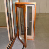 Guichet en bois en aluminium de tissu pour rideaux d'interruption thermique colorée de qualité avec le blocage multi Kz200