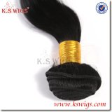 Pelo humano natural de la extensión brasileña del pelo de la buena calidad de las pelucas del K.S