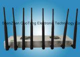 Bloquer mobile de dresseurs de signal du brouilleur huit de portable de dresseur de signal de brouilleur de signal du brouilleur WiFi/2g/3G/4G/2.4G/GPS de signal