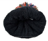 Шлем Beanie Pompom цвета способа Multi связанный Laides теплый