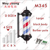 Fábrica de Suprimentos Corpo ABS Ce RoHS Roating Lighting Barber Pole