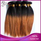 trame non-traitée de cheveux humains de Vierge de catégorie de 1b27# 8A