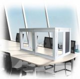 Sindgen Light Weight Desktop Interpretatie Booth voor 2 Person