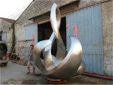 옥외 스테인리스 조각품, 추상 예술의 아름다운 곡선