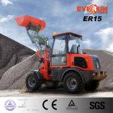 De MiniTractor van het Merk van Everun Er15 met de Emmer van de Sneeuw