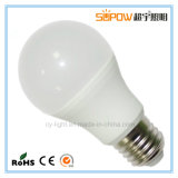 7W E27 2700k LED Glühlampe mit Aluminium plus PBT