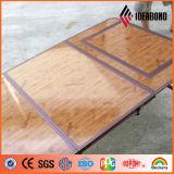 3 capas de la madera de la mirada 4*8 del panel compuesto de aluminio cubierto de los pies
