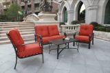 最新の優雅な庭の雑談のグループの家具の鋳造アルミの雑談のグループの庭セット
