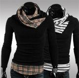 Neue Entwurfs-Form-dünner Sitz häuft Strickjacke der Muffen-beiläufiger schwarzer Pullover gestrickten Männer