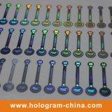 Silvery sécurité Holographic Tamper Evident Hologram Étiquette