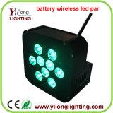 직업적인 Rgbawuv 18W DMX 무선 LED 건전지 빛