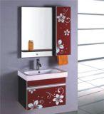 O banheiro fixado na parede do PVC da alta qualidade ajustou-se com gabinete lateral