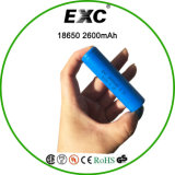 18650 3.7V 2600 mAh con la batería de litio recargable