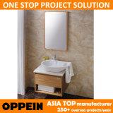 Vanidad de la cabina de cuarto de baño de la manera de Oppein pequeña con el lavabo de la cuchara (OP13-052-60)