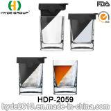 Tazza di vetro resa personale del whisky quadrato 180ml (HDP-2059)