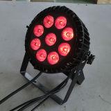 싼 소형 9X15W Rgbaw UV 옥외 LED 동위 램프