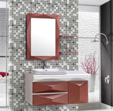 Modernes Type PVC Wall Bathroom Vanity mit Mirror