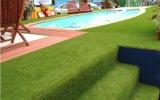 Het synthetische Kunstmatige Gras van het Gras met de Vezel van de Stam