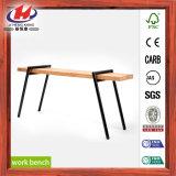 Tableau de travail en bois de panneau de joint de doigt de meubles bon marché