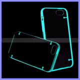 Double Mix Color Light Up Clignotant Glow in The Dark Mobile Phone Bumper Case pour iPhone 6s Plus Samsung S5 S6 S7 Edge Note 4 5